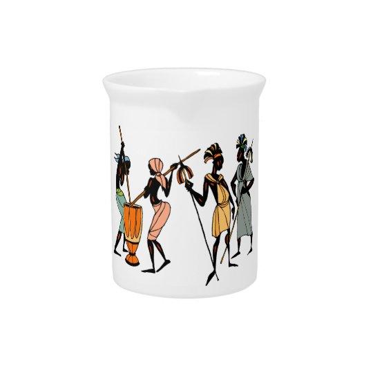 Afrikanischer Stammes- Entwurfskrug/-krug Getränke Krug
