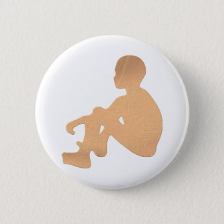Afrikanisches Kind Runder Button 5,1 Cm