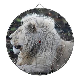 Afrikanisches weißes Löwe-Profil-Foto Dartscheibe