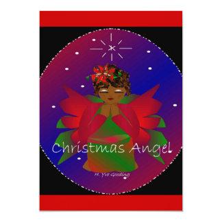 Afro-amerikanisches Weihnachtsengels-Baby-Beten 12,7 X 17,8 Cm Einladungskarte