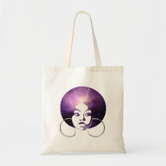 Afro-Diva-lila Galaxie-Budget-Tasche Tragetasche