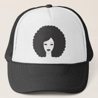 Afro-Frauen-Kleid Truckerkappe