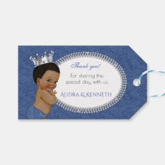 Afroamerikaner-Baby-Denim u. Diamant-Krone Geschenkanhänger