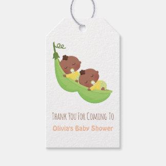 Afroamerikaner-Erbsenhülse-Zwilling danken Ihnen Geschenkanhänger