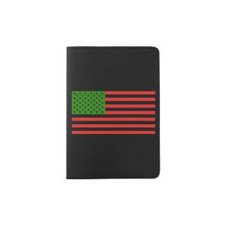 Afroamerikaner-Flagge - rotes Schwarzes und grün Passhülle