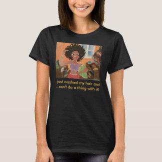 Afroamerikaner-Kunst-Haarpflegemittel durch Elle T-Shirt