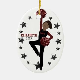 Afroamerikaner Pom Gruppe im Schwarzen u. im Keramik Ornament