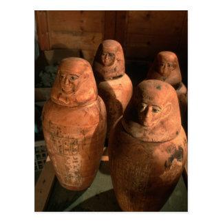 Ägypten, 26. Dynastie Canopic Gläser fand in Abu Postkarte