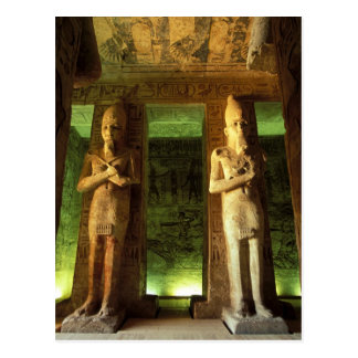 Ägypten, Abu Simbel, Statue von Ramesses II, Postkarte