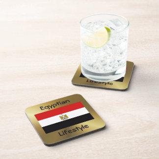 Ägypten-Flagge+Text-Untersetzer Untersetzer