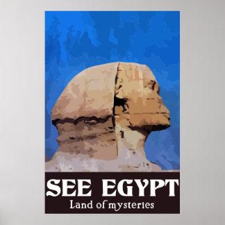 Ägypten-Reise-Plakat Poster