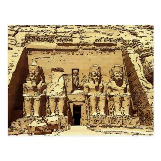 Ägypter Abu Simbel Tempel Postkarte