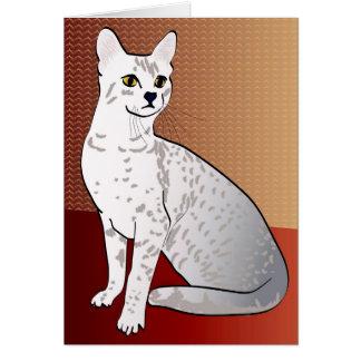 Ägypter Mau Katze - Bronzehintergrund Mitteilungskarte