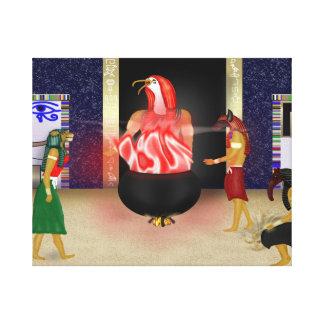 Ägyptische Gottheiten, die über uns Malerei Galerie Falt Leinwand