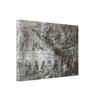 Ägyptische Hieroglyphen Gespannter Galeriedruck