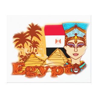 Ägyptische Königin Kleopatra dehnte Leinwand-Druck Galerie Faltleinwand