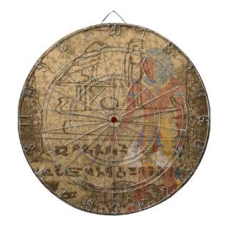 Ägyptisches hieroglyphisches dartscheibe