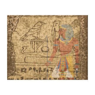 Ägyptisches hieroglyphisches galerie faltleinwand