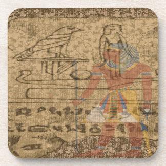 Ägyptisches hieroglyphisches getränkeuntersetzer