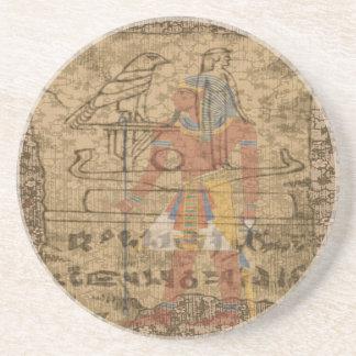 Ägyptisches hieroglyphisches sandstein untersetzer
