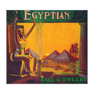 Ägyptisches orange LabelDowney, CA Gespannte Galeriedrucke