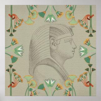 Ägyptisches Pharao-Plakat Poster