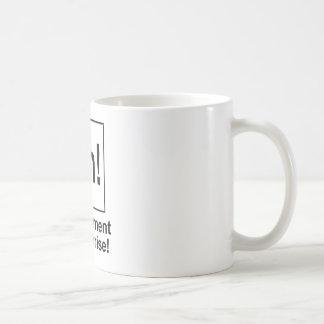 Ah! Das Element der Überraschung Kaffeetasse