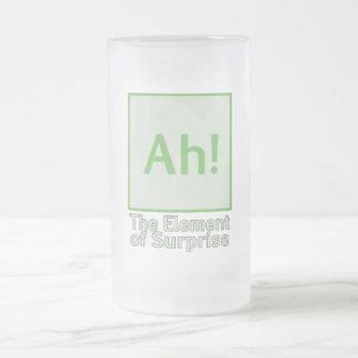 Ah! Das Element der Überraschung Mattglas Bierglas