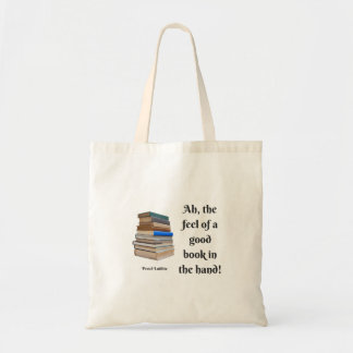 Ah, das Gefühl eines guten Buches in der Hand Budget Stoffbeutel