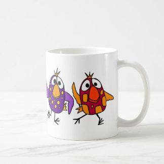 AH unglaublich witzig Tanzen-Vogel-Cartoon Tasse