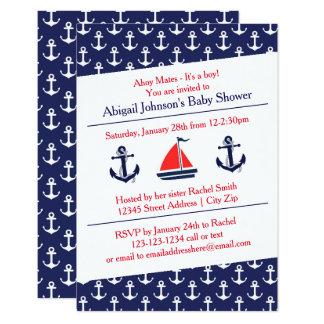 Ahoi Anker-Babyparty - Einladung 3x5
