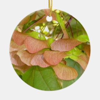Ahorn sät Verzierung Rundes Keramik Ornament