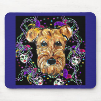 AIREDALE-KARNEVAL MOUSEPAD