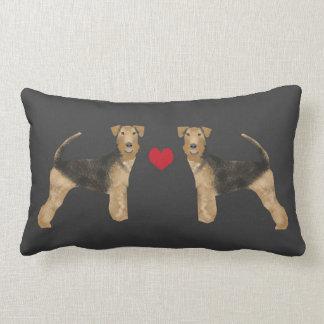 Airedale-TerrierhundekissenhundeLiebe Lendenkissen