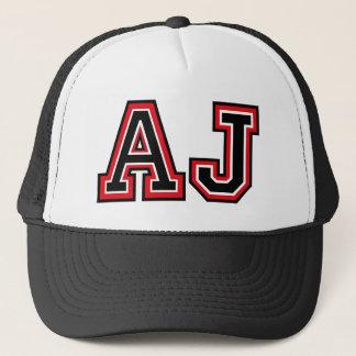 """AJ"" Monogramm Truckerkappe"