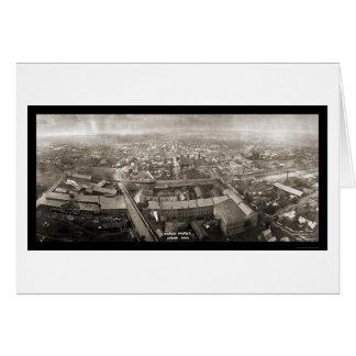 Akron bearbeitet Ohio-Foto 1907 Karte