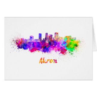 Akron OH skyline im Watercolor Karte
