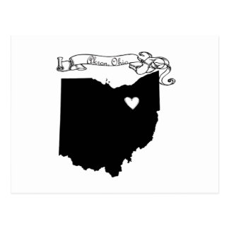 Akron Ohio Postkarte