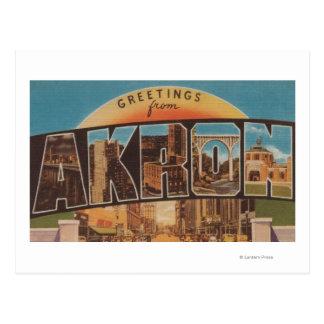 Akron, OhioLarge Buchstabe ScenesAkron, OH- Postkarte