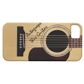 Akustikgitarre-Gewohnheits-Autogramm Etui Fürs iPhone 5