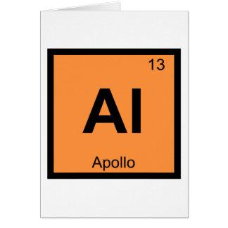 Al - Apollo-Gott-Chemie-Periodensystem-Symbol Karte