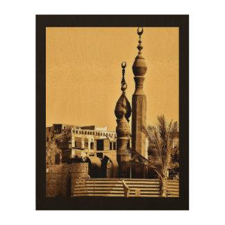 Al-Balad-Moschee Holzdruck