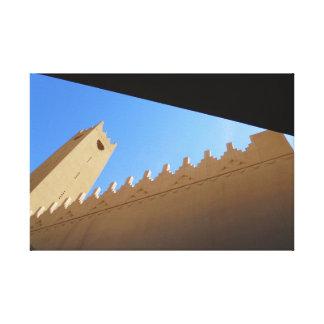 Al Kindi Piazza-Moschee Leinwanddruck
