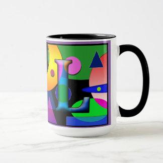 """AL"" Monogramm-Kaffee-Tasse 15 Unze Tasse"