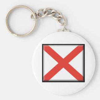 Alabama-Flagge Standard Runder Schlüsselanhänger
