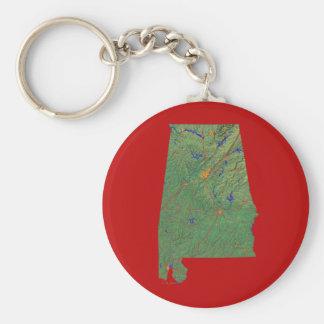 Alabama-Karte Keychain Standard Runder Schlüsselanhänger