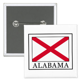 Alabama Quadratischer Button 5,1 Cm