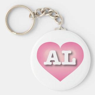 Alabama-Rosa verblassen Herz - große Liebe Standard Runder Schlüsselanhänger