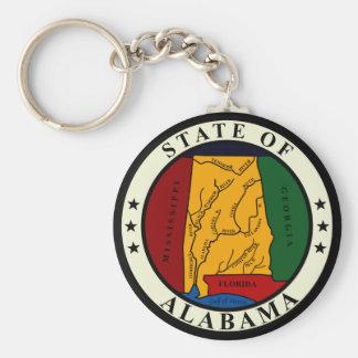 Alabama-Staats-Siegel Keychain Standard Runder Schlüsselanhänger