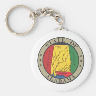 Alabama-Staats-Siegel Standard Runder Schlüsselanhänger